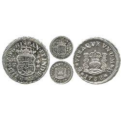 Mexico City, Mexico, pillar 1/2 real, Philip V, 1738MF.