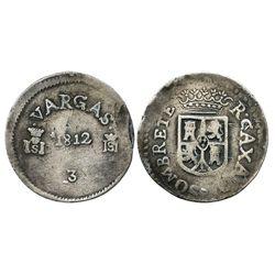 Sombrerete de Vargas, Mexico, 8 reales, 1812, rare.