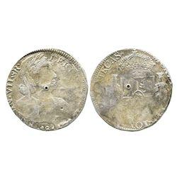 Zacatecas, Mexico, bust 8 reales, Ferdinand VII, 1811, rare type.
