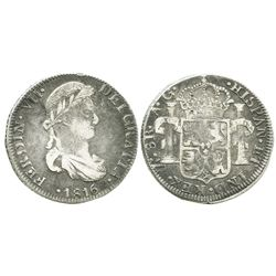 Zacatecas, Mexico, bust 8 reales, Ferdinand VII, 1816AG.