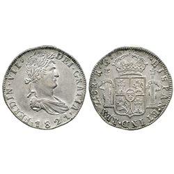 Zacatecas, Mexico, 8 reales, Ferdinand VII, 1821RG.