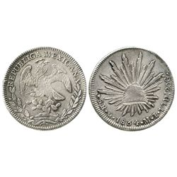 Mexico City, Mexico, cap-and-rays 8 reales, 1834ML.