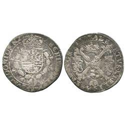 Tournai, Spanish Netherlands, 1/4 patagon, Albert and Isabel (1599-1621).