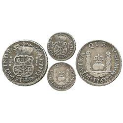Lima, Peru, pillar 1 real, Charles III, 1761JM.