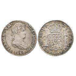 Lima, Peru, bust 8 reales, Ferdinand VII, 1814JP.
