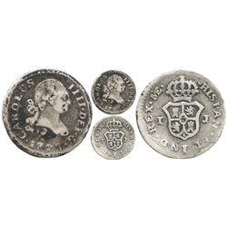 Lima, Peru, 1/4 real, Charles IV, 1793IJ.