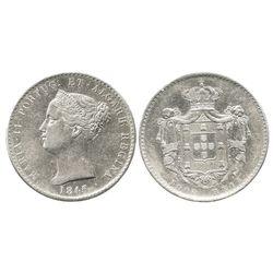 Portugal, 1000 reis, Maria II, 1845.
