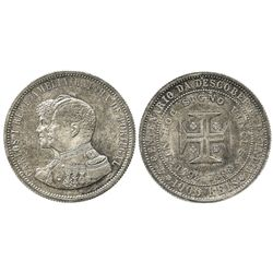 Portugal, 1000 reis, 1898, 400th anniversary of the discovery of India commemorative.