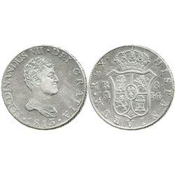 Madrid, Spain, bust 8 reales, Ferdinand VII, 1813/2IG.