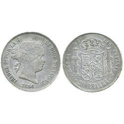 Madrid, Spain, 20 reales, Isabel II, 1856.