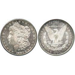 USA (San Francisco mint), 1 dollar Morgan, 1880-S, encapsulated NGC MS 64 PL.