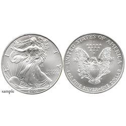 Lot of 19 USA (Philadelphia mint) $1 Liberty (American Eagle bullion coins), 2007 (each 0.9993 oz AS
