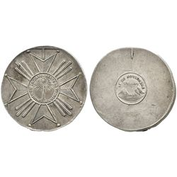 Potosi, Bolivia, large silver military medal, 1841.