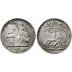 Potosi, Bolivia, huge silver medal, 1850, Belzu.