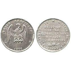 Potosi, Bolivia, small silver medal, 1866, American Union.