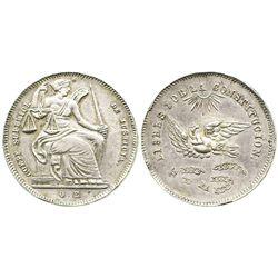 Potosi, Bolivia, silver medal, Superior Court (1800s).