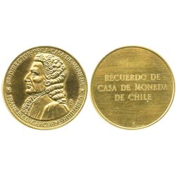 Santiago, Chile, gold medal, first mint director Garcia de Huidobro (1940s).