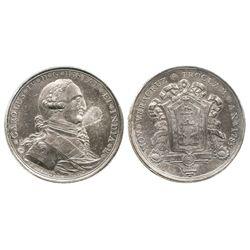 Veracruz, Mexico, silver proclamation medal, Charles IV, 1789.