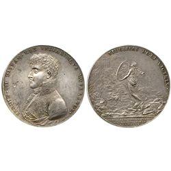 Mexico, silver proclamation medal, Ferdinand VII, 1809, Tridentine Seminary.