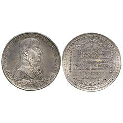 Parras, Mexico, silver proclamation medal, Ferdinand VII, 1809.