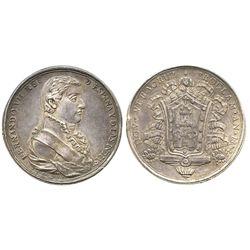 Veracruz, Mexico, silver proclamation medal, Ferdinand VII, 1809.