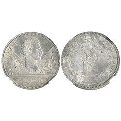 Cuzco, Peru, silver peso-sized medal, 1838, General Santa Cruz, encapsulated NGC MS 62.