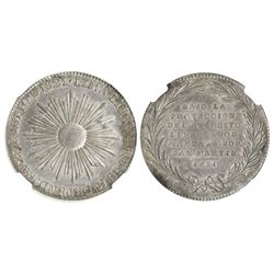 Lima, Peru, silver 4R-sized medal, 1851, San Martin, encapsulated NGC MS 62.