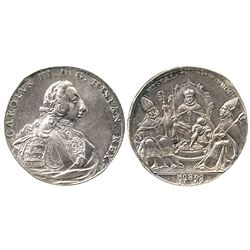 Seville, Spain, silver proclamation medal, Charles III, 1759.