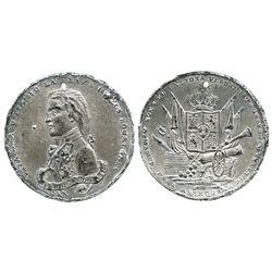 Spain, pewter propaganda medal of Ferdinand VII (ca. 1808-14), rare.