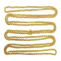 Atocha Long, ornate, gold chain, 822 links plus fob