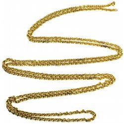 "Atocha Plain-link gold chain, approx. 55"" long."