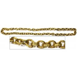 """Atocha Ornate gold """"money"""" chain necklace, 83 links, 21"""" long."""