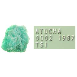 Large but light-green natural emerald #1, 2.66 carats, with Edward J.  Little signature on certifica