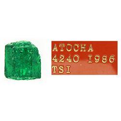 Small but dark-green (gem quality) natural emerald #E310, 0.71 carat.