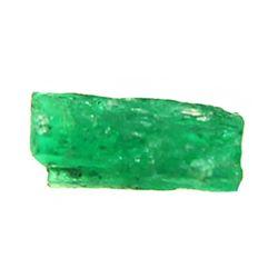 Small but dark-green natural emerald #106, 0.44 carat, with Edward J. Little signature on certificat