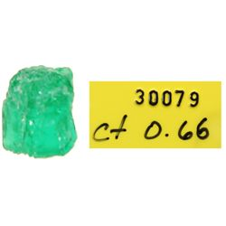 Small but high-quality natural emerald #30079, 0.66 carat (certificate missing).