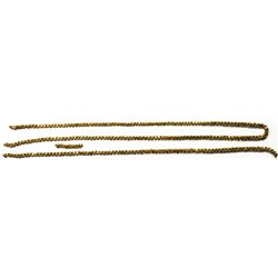 """Lot of various lengths of gold """"olive blossom"""" chain, total of 28.5 inches."""