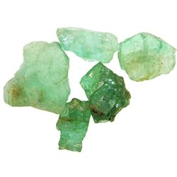 Lot of 5 natural emeralds of 3-5 carats each.