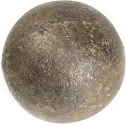 Small iron cannonball, probably 1700s.