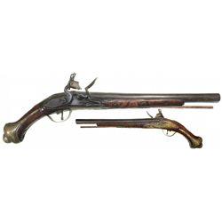 Ornate flintlock pistol, North African / Mediterranean, ca. 1750s.
