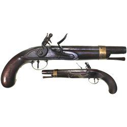 English flintlock pistol, ca. 1790.