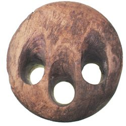 Large lignum vitae deadeye from an unidentified shipwreck of the 1700s.