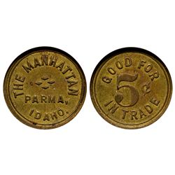 Manhattan (The) Token ID - Parma,Canyon County - c1908 - Tokens