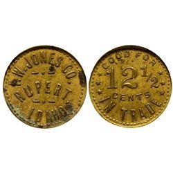 F.W. Jones Co. Token ID - Rupert,Minidoka County - c1912 - Tokens