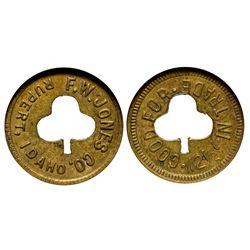 F.W. Jones Token ID - Rupert,Minidoka County - c1912 - Tokens