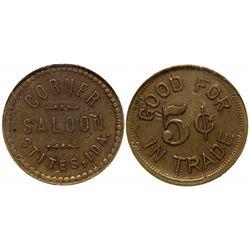 Corner Saloon ID - Stites,c1910 - Tokens