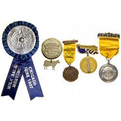 Dairymen's Association Convention Badges IL - Chicago,Tokens