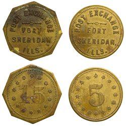 Fort Sheridan Tokens IL - Fort Sheridan,Lake County -  -