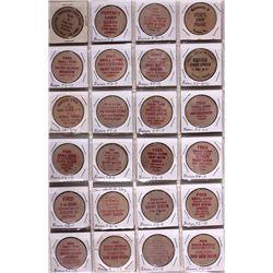 Kansas Wooden Nickels KS - Tokens
