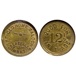 Old Home Saloon Token MT - Great Falls,Cascade County -  - Tokens